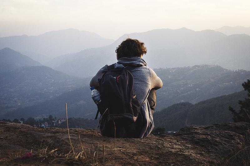 A solo traveler.