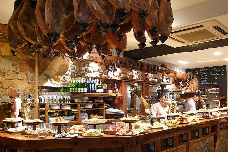 A Spanish tapas bar.