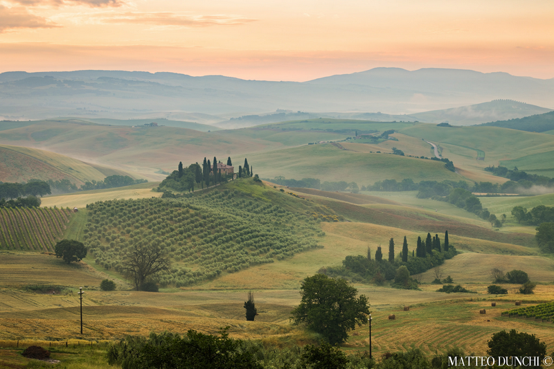 One of the most famous photographic spot in Tuscany: Podere Belvedere, Val D'Orcia. Photo by Matteo Dunchi.