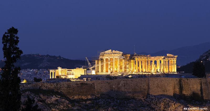 Acropolis, night view, Athens