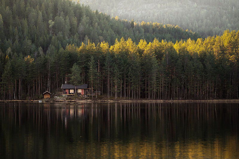 A lonely house.