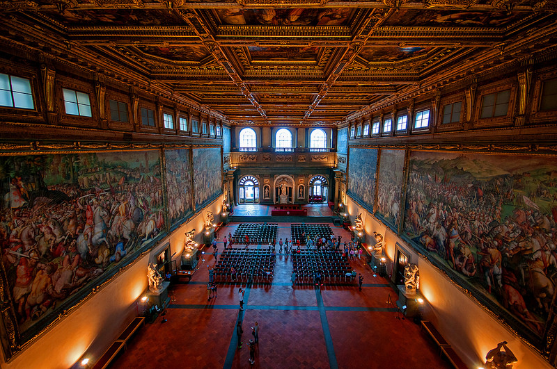 Hall of the Five Hundred, Florence.