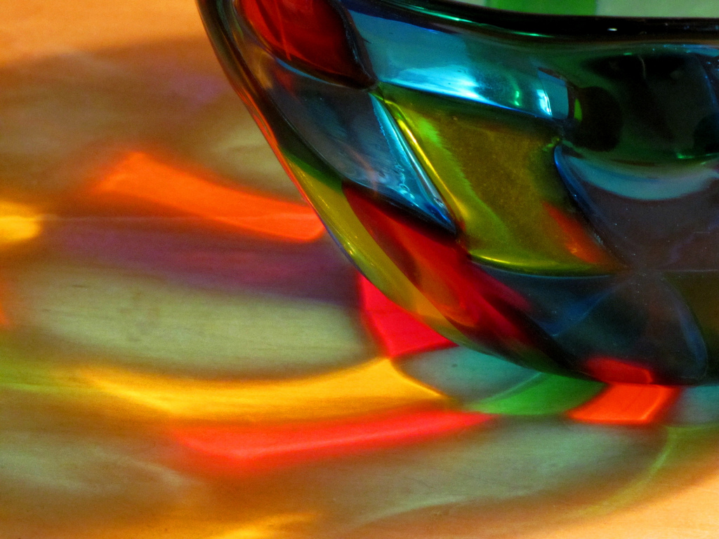 Light through a Murano glass.