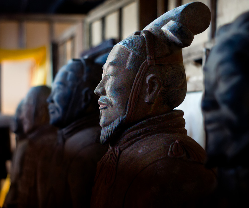 Detail of an element of the Terracotta army, China.