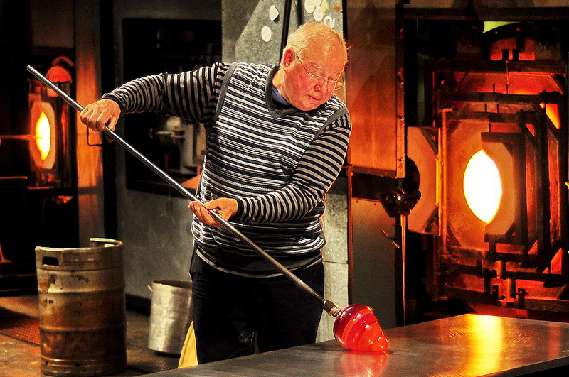 A glass blower.