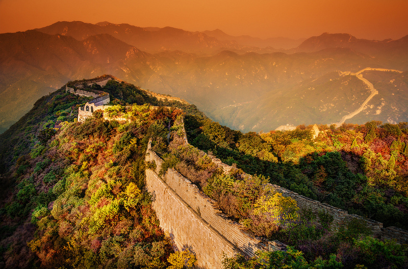 Great wall of China, Evening
