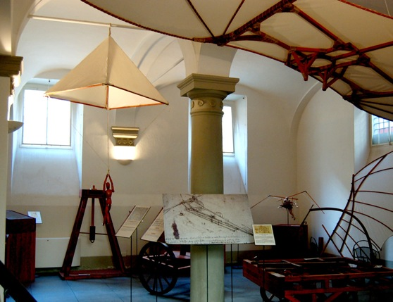 The room of the flying machines, Leonardo da Vinci Museum