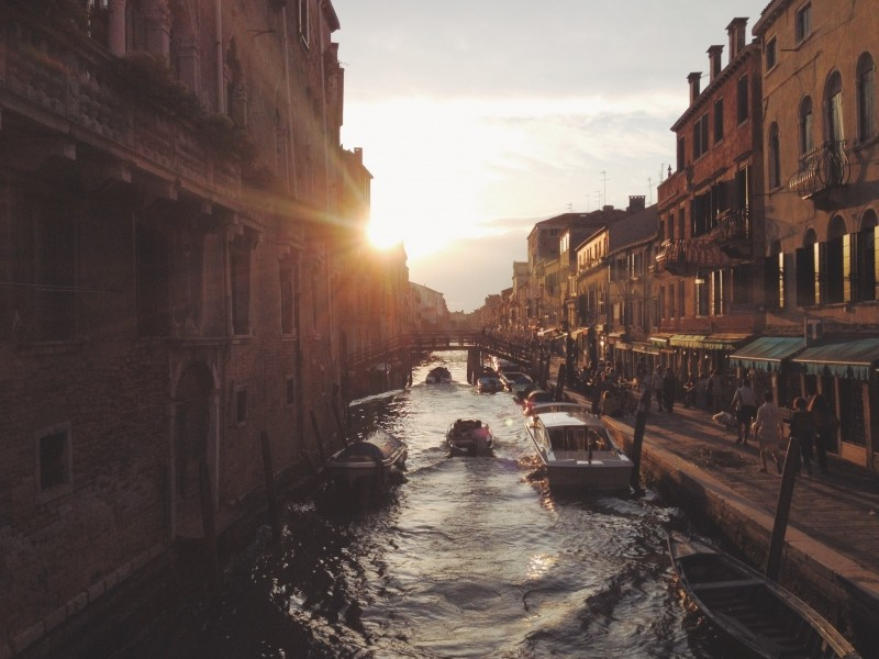 Sunset on Canal Grande.