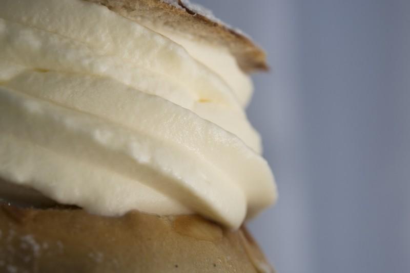 Whipped cream bun.