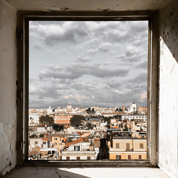Rome from a window. Photo by Marko Morciano