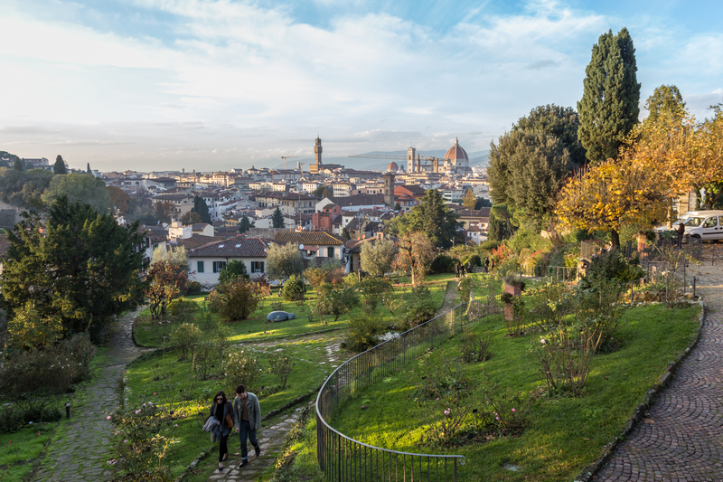 Florence gardens. Photo by Matteo Dunchi