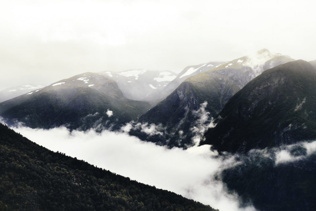 Clouds and mountains. Photo by Antoine Buchet