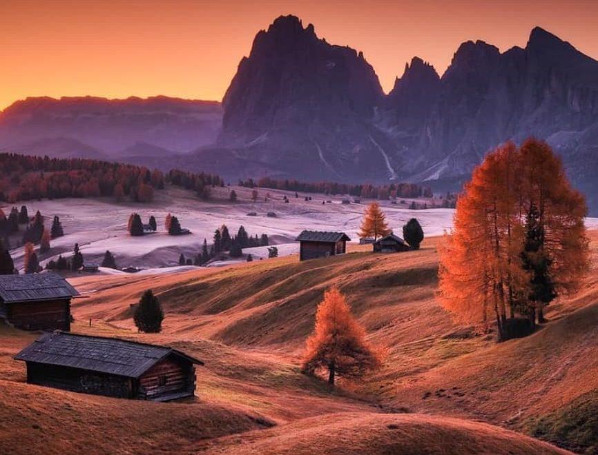 Dolomites sunset